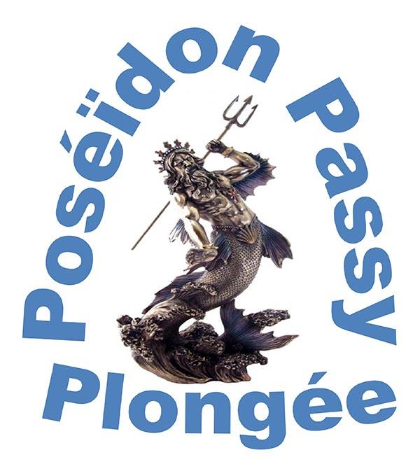 Logo poséidon passy plongee W