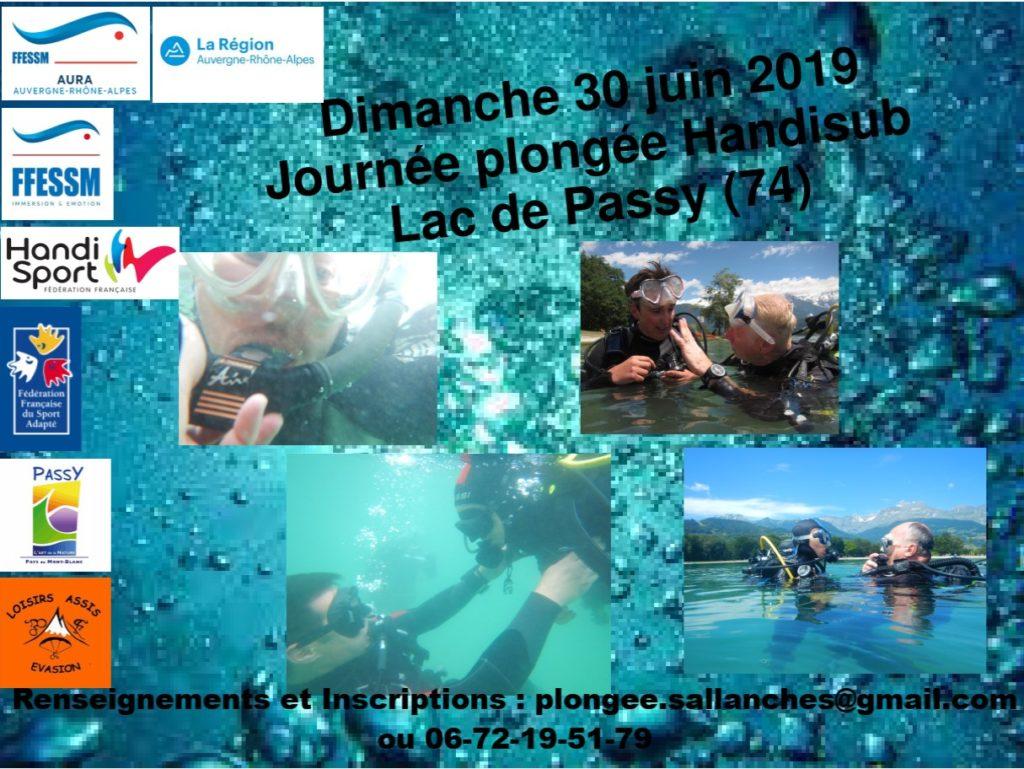 Plongée Handisub  :  Passy le 30 juin @ Lac de Passy