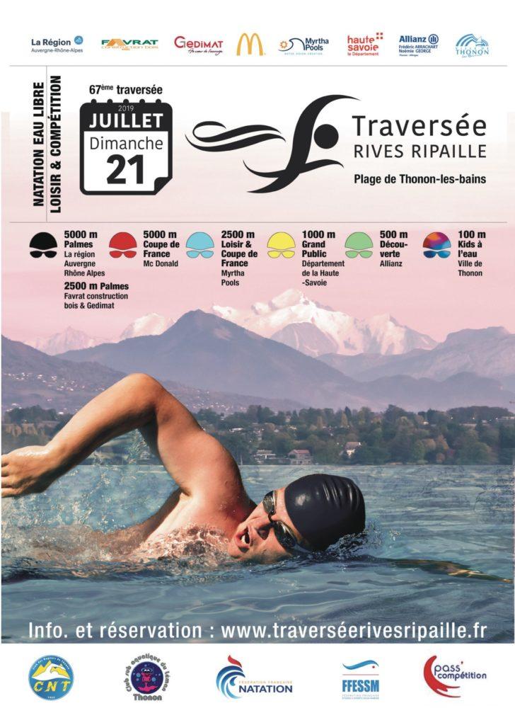 Nage avec Palmes : Traversée Rives/Ripaille @ Thonon-les-Bains